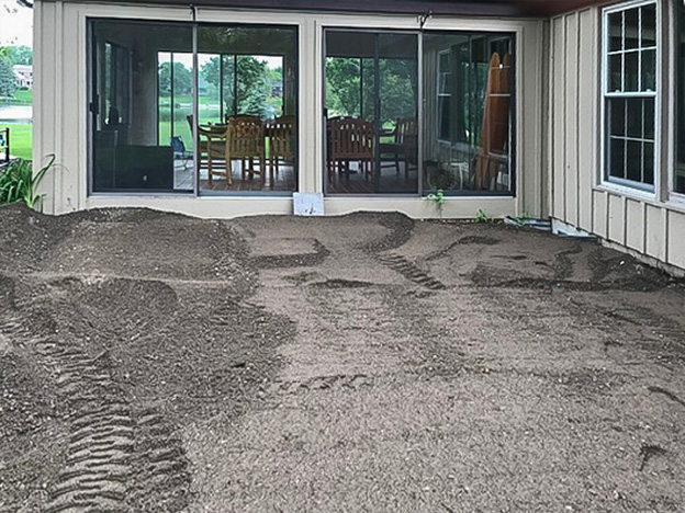 Installation of Flagstone Patio