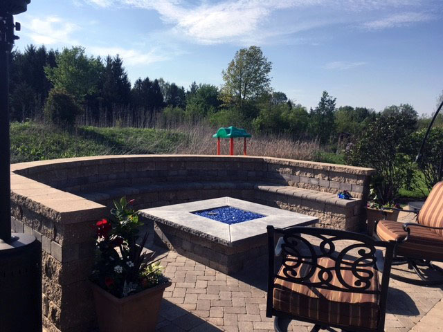 Outdoor Fireplace Top Replaced