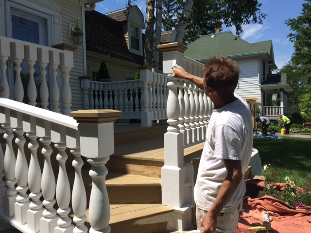 Painting Deck Railings